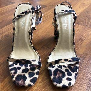 Nasty Gal Leopard Print Heels